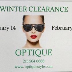 6b22fc1e3fa2 Photo de Optique - Philadelphie, PA, États-Unis. Optique Winter Clearance  Sale