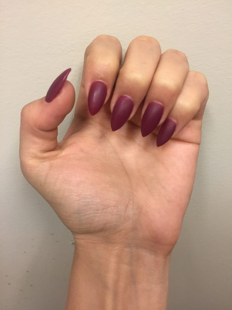 Matte gel acrylic nails by lily yelp for A q nail salon