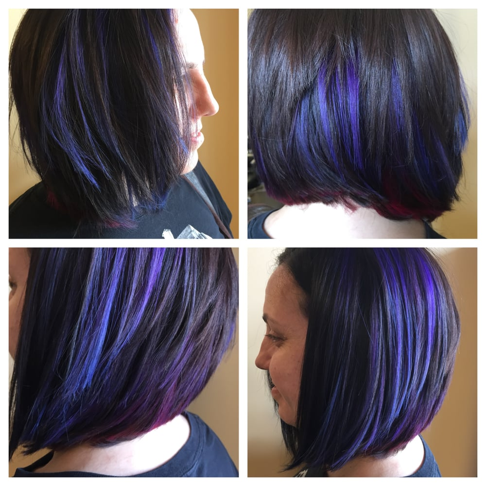 Structured A Line And Blue And Purple Halo Highlights Yelp
