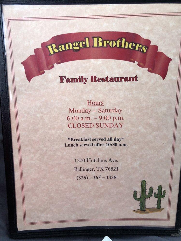 Rangel Brother's: 1200 Hutchins Ave, Ballinger, TX
