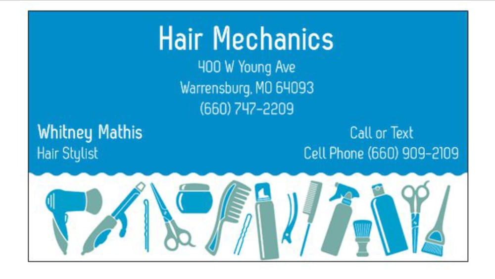 Hair Mechanics: 400 W Young Ave, Warrensburg, MO