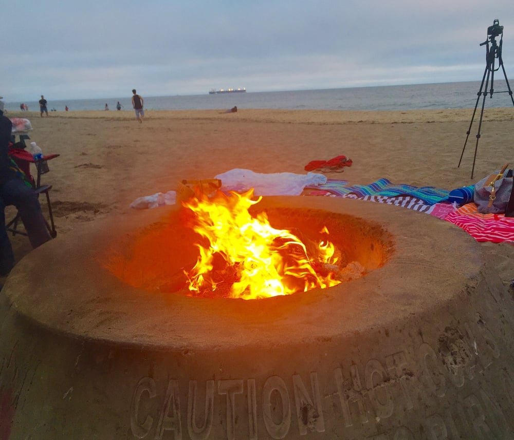 I'm glad this beach has fire pits - Yelp