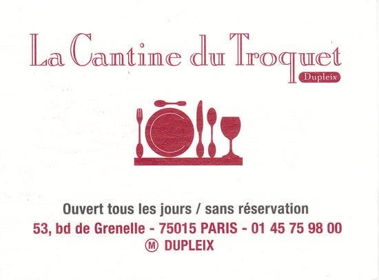 Photo De La Cantine Du Troquet Dupleix