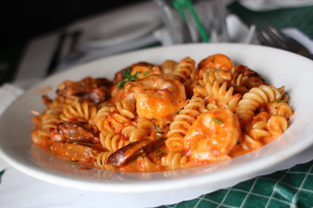 Mama d 39 s pink sauce with shrimp and sausage yelp for Mama s italian kitchen