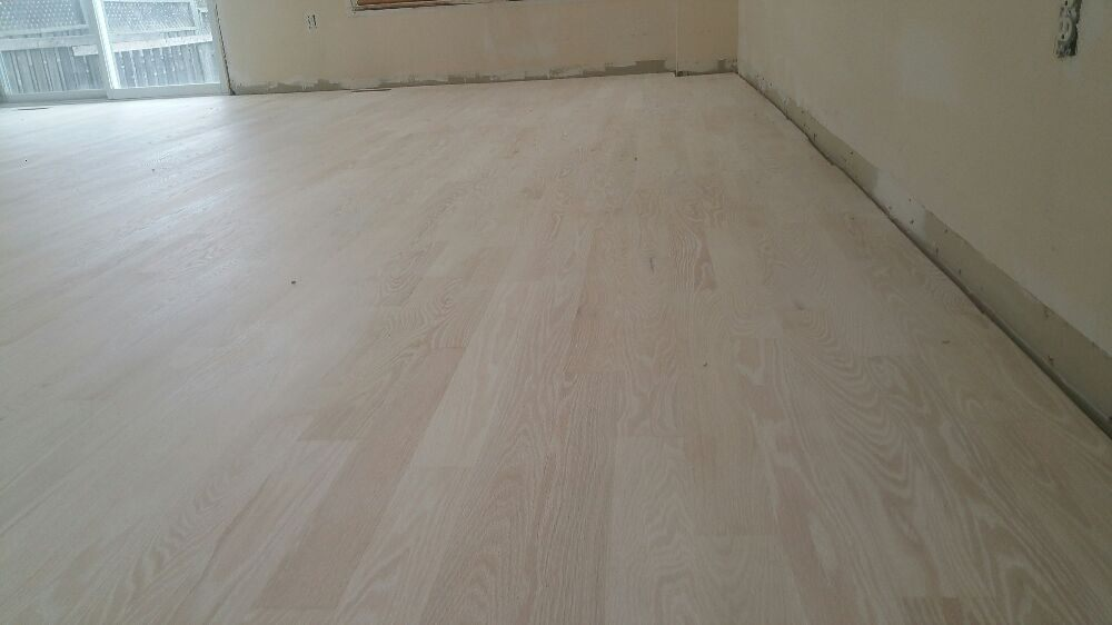 Bleached Red Oak Floor With Bona White Stain With Matt