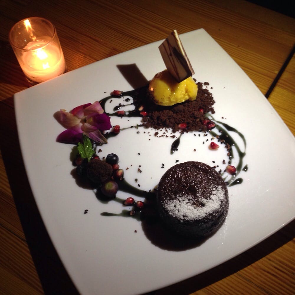 Sinfully delicious chocolate lava cake thing w.truffle ...