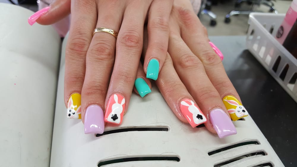 Easter nails by bella yelp for 24 nail salon las vegas