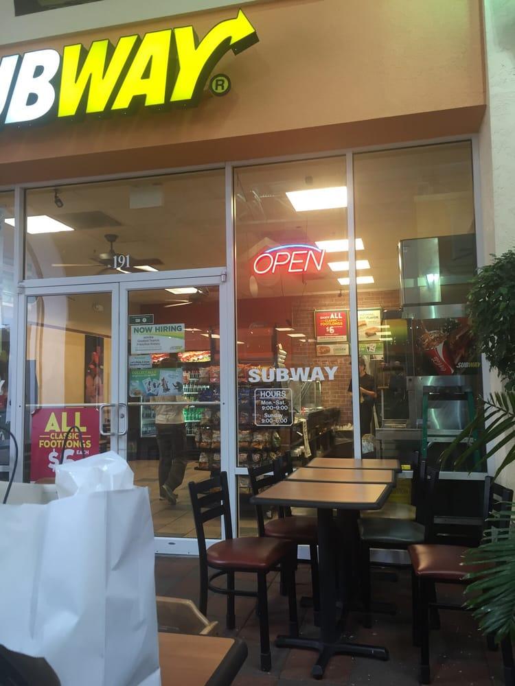 Subway Restaurants Sandwiches 10801 Corkscrew Road