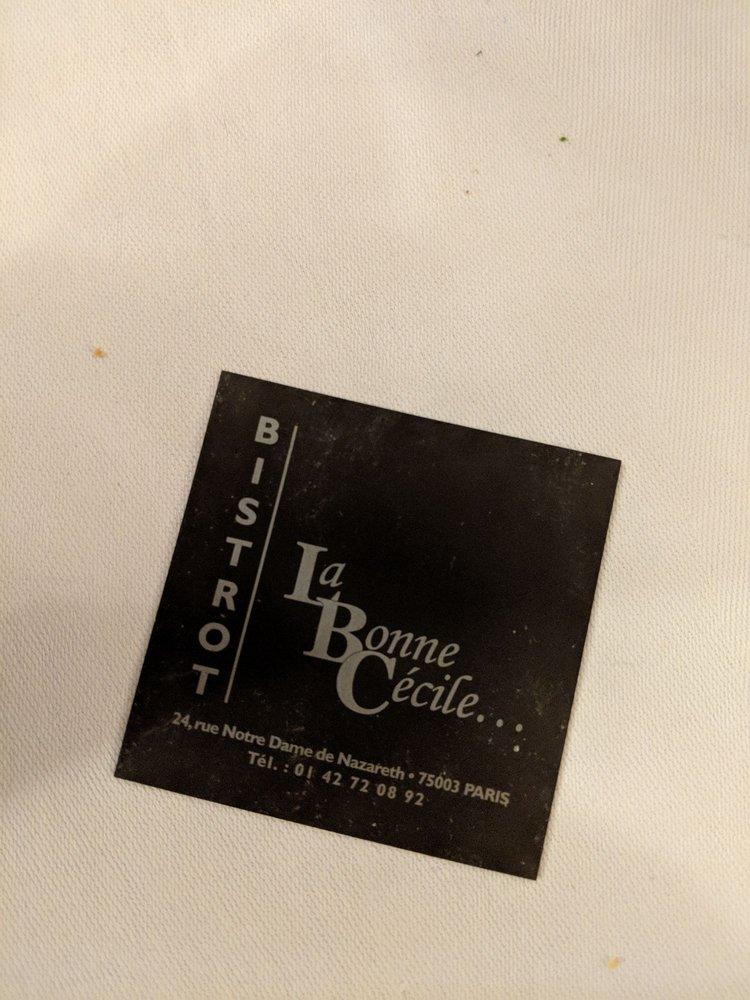 La Bonne Cecile business card - Yelp