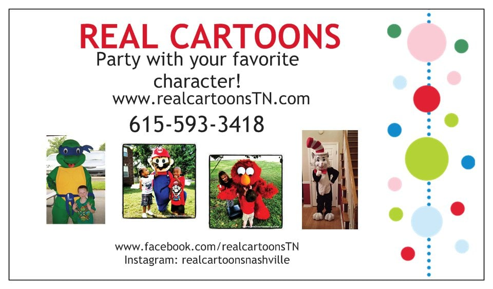 Cartoon Characters Phone Numbers : Real cartoons party characters smyrna tn phone