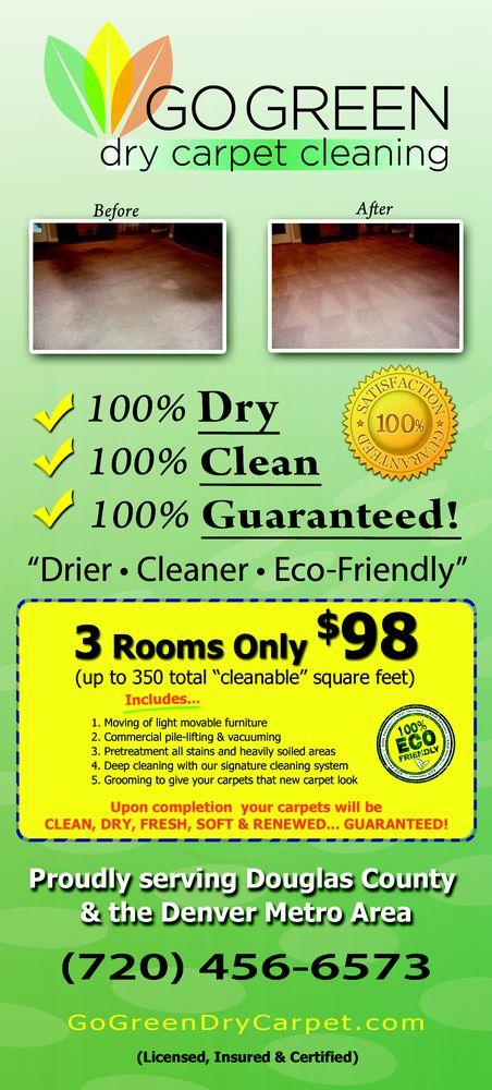 Go Green Dry Carpet Cleaning: 1435 Live Oak Rd, Castle Rock, CO