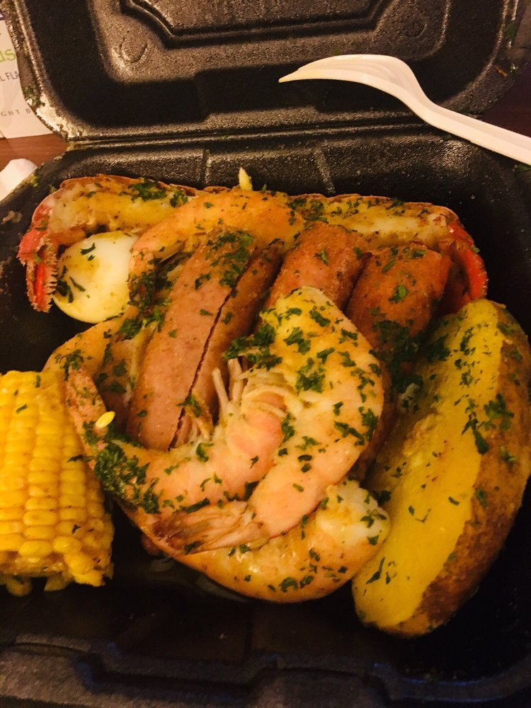 Food from Ocean Crab House