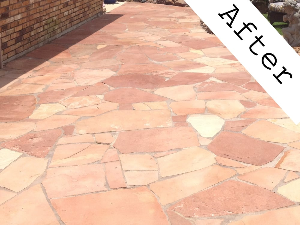 Flagstone Patio That Was Sealed U0026 Enhanced With DuPont Stone Sealer/Enhancer.    Yelp