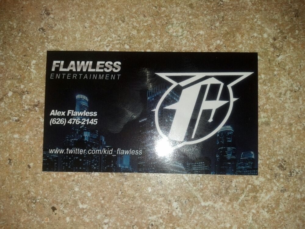 Im a club promoter and edward made these business cards for me photo of inka gold productions los angeles ca united states im a reheart Images