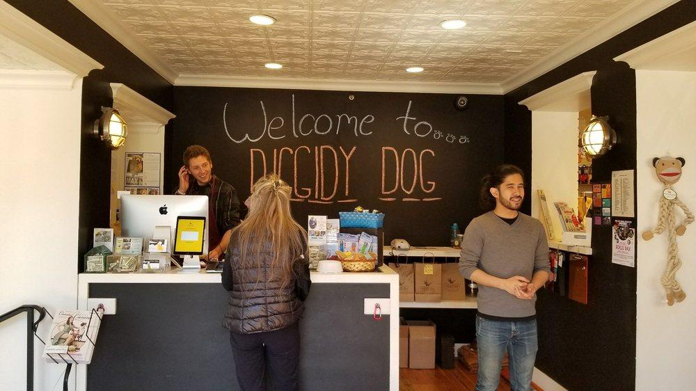 Diggidy Dog: Mission Street between 5th & 6th, Carmel, CA