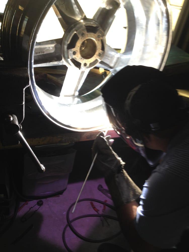 Bent Motorcycle Wheel Repair