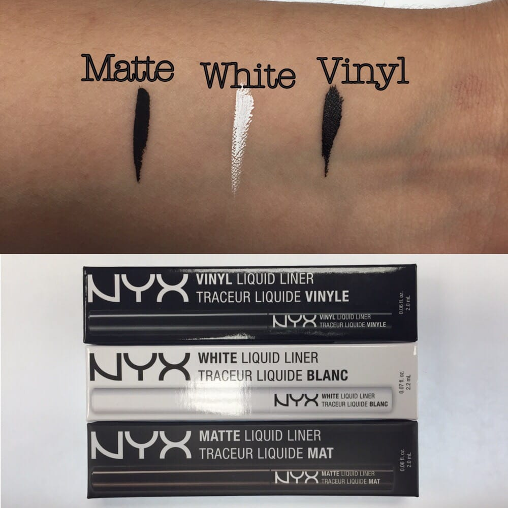 Nyx Liquid Eyeliner In Matte White And Vinyl Yelp