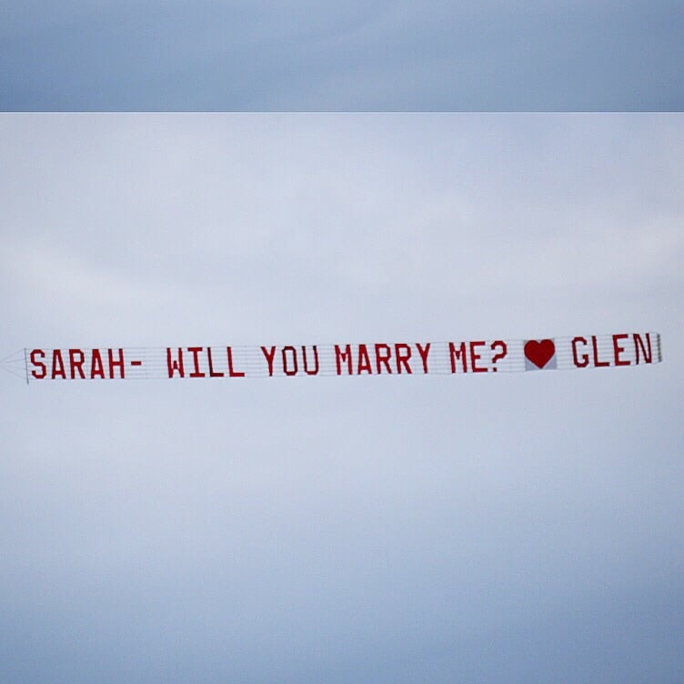 Marriage Proposal Banner Yelp
