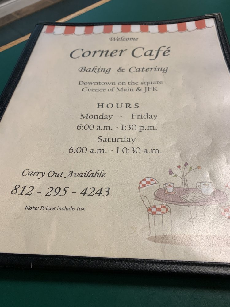 Corner Cafe: 201 N John F Kennedy Ave, Loogootee, IN