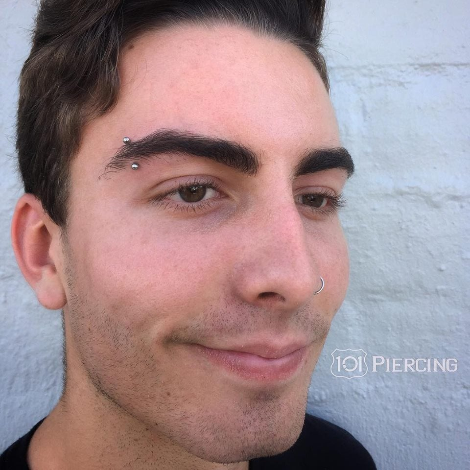 Fresh Eyebrow Piercing By Bradlee Treutler With Titanium Jewelry