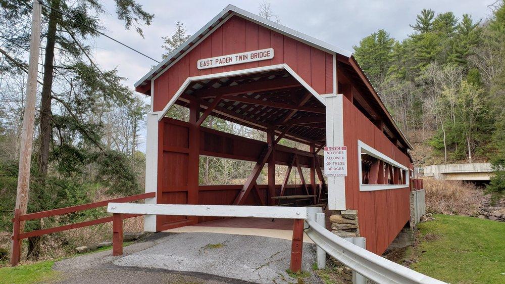 West Paden Twin Bridge: 81 Winding Rd, Orangeville, PA