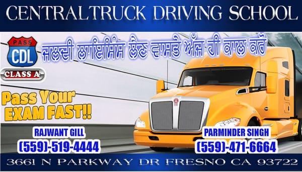 truck driver training fresno ca