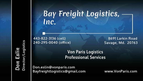 Bay Freight Logistics - 1710 Crossroads Dr, Odenton, MD