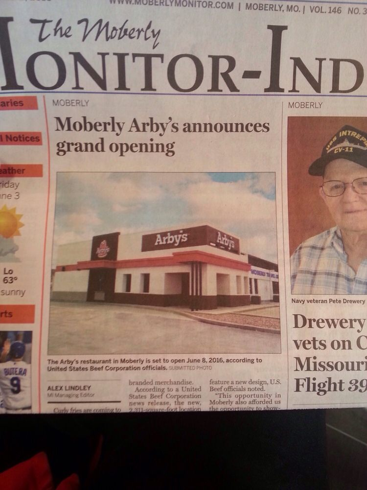 Arbys: 600 Highway 24, Moberly, MO