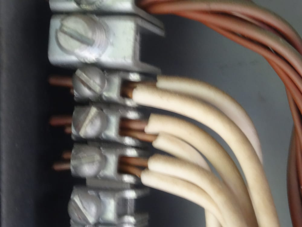Double lugged neutral wires at the main panel. - Yelp