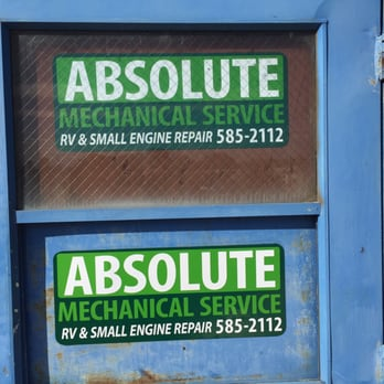 Absolute mechanical service rv repair 1080 wicker st for Small outboard motor repair near me