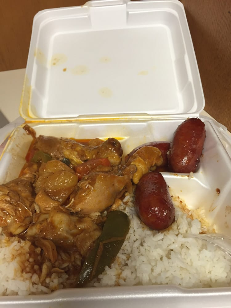 2 Entree Longganisa And Chicken Afritada With Rice Yelp
