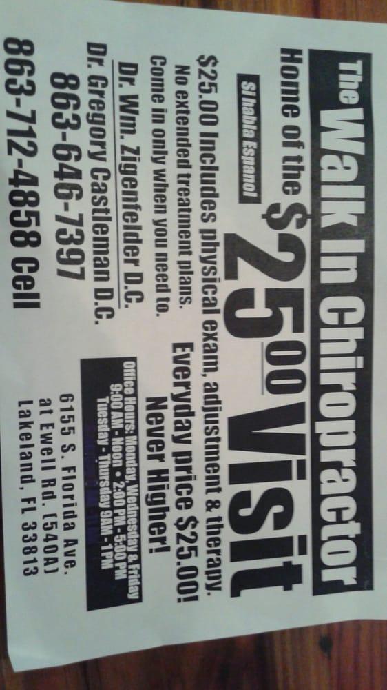Walk In Chiropractor: 6155 S Florida Ave, Lakeland, FL