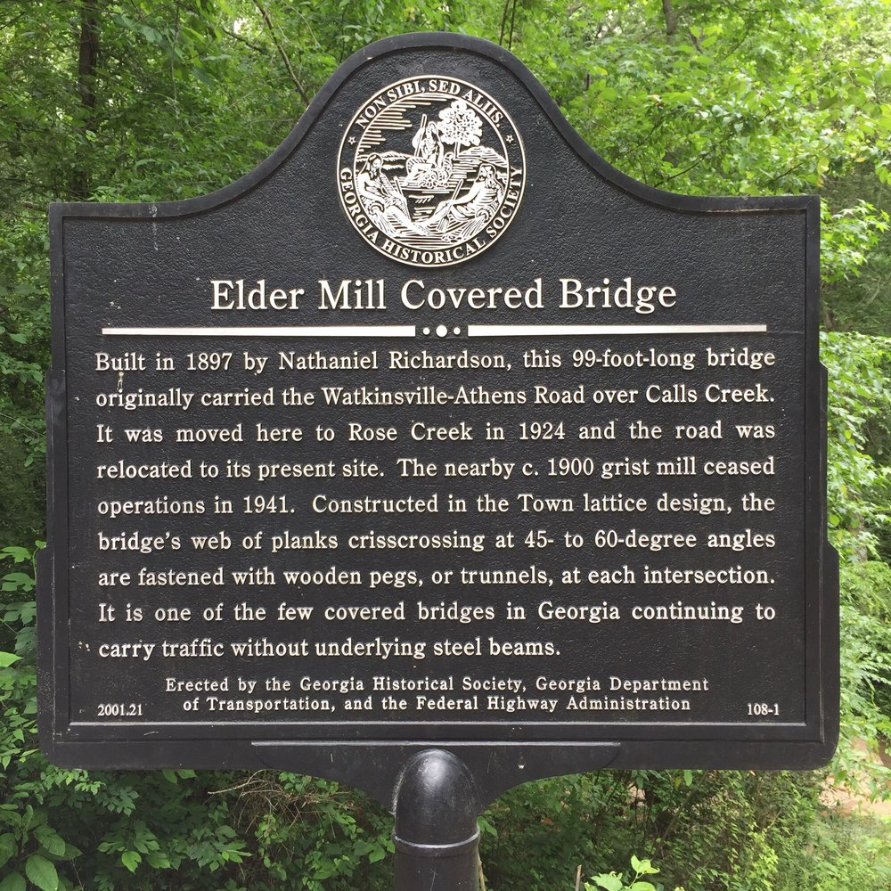 Elder Mill Covered Bridge: 1434-1440 Elder Mill Rd, Watkinsville, GA