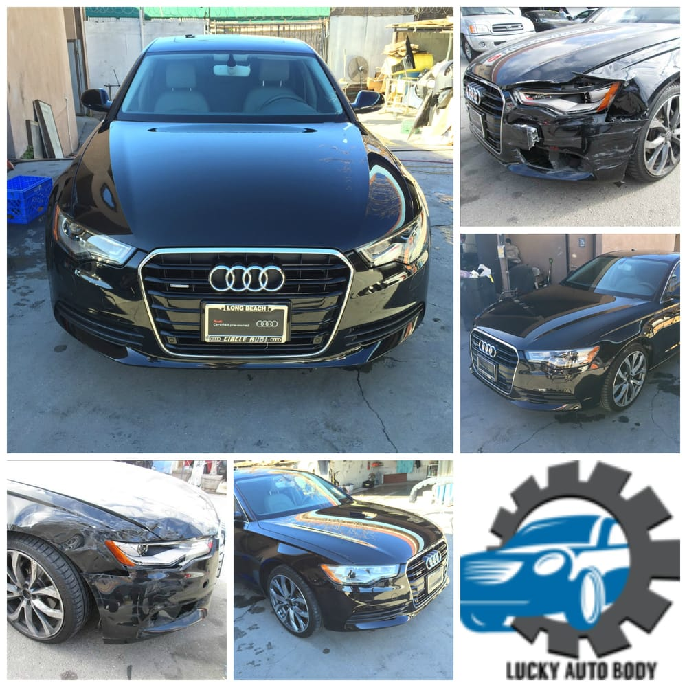 Audi A Front End Damage Before And After Repairs Yelp - Audi auto body