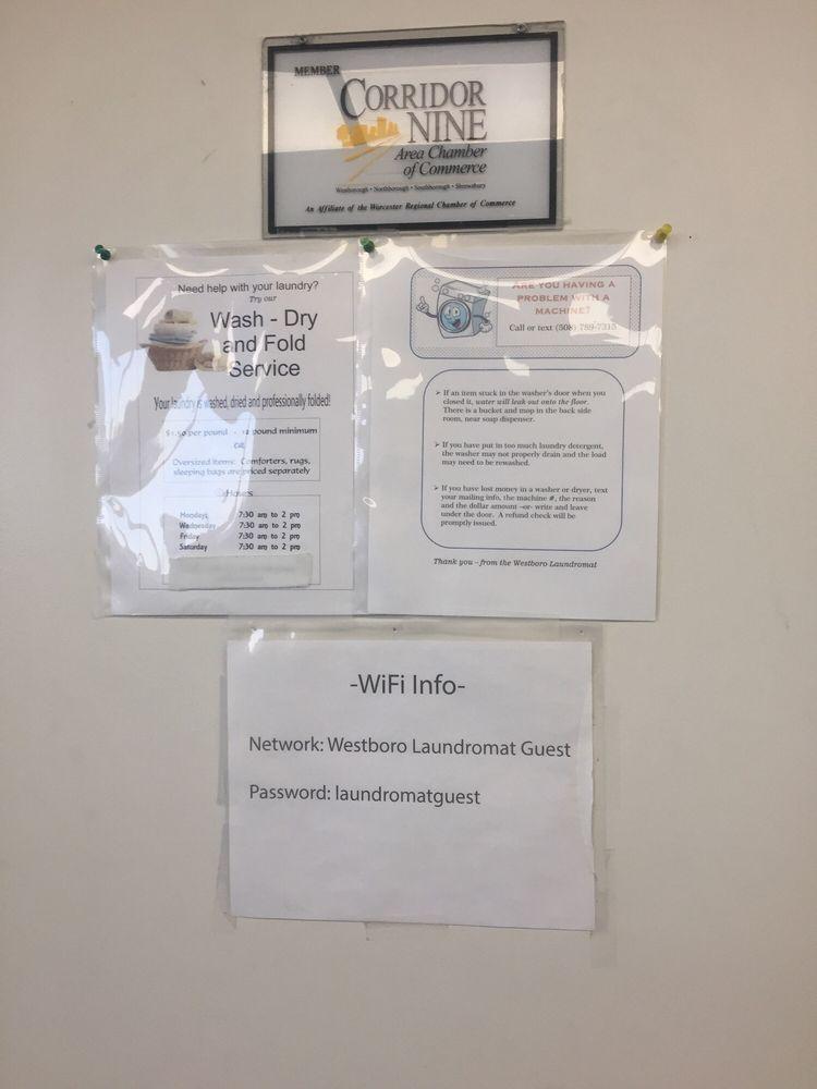 Westboro Laundromat: 164 Milk St, Westborough, MA