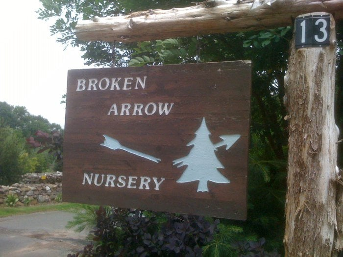 Photo of Broken Arrow Nursery - Hamden, CT, United States. Entrance Signage