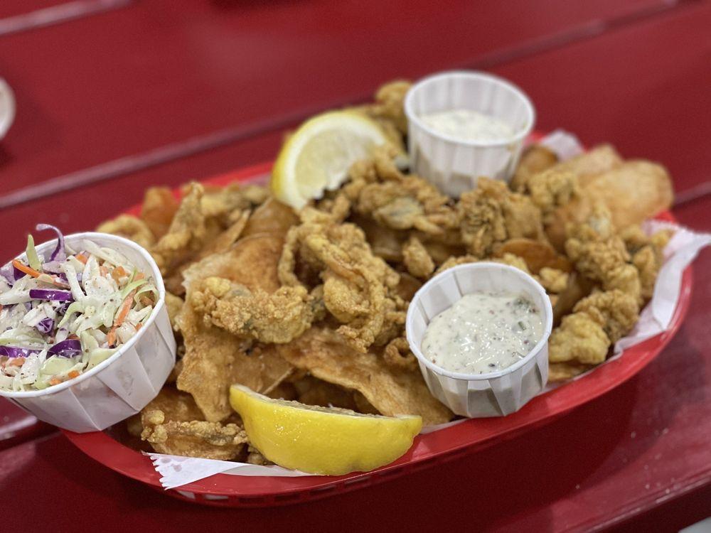 Food from Chef Bob's Lobstah Trap Restaurant