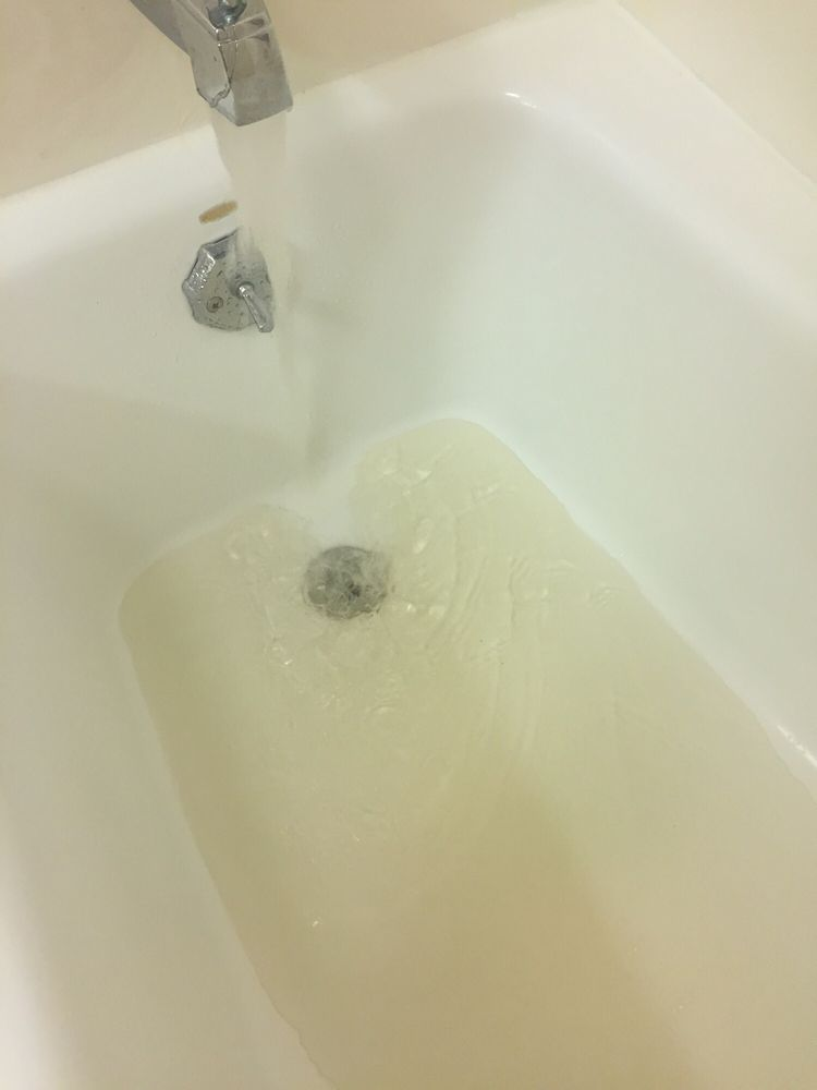 Dirty yellowish brown water coming from the bath tub faucet! - Yelp
