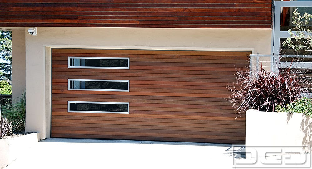 modern wood garage door. Photo Of Dynamic Garage Door - Santa Ana, CA, United States. Custom Ipe Modern Wood