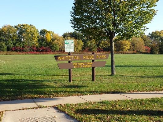 Photo Of Whitetail Ridge Park   Madison, WI, United States. Park Entrance