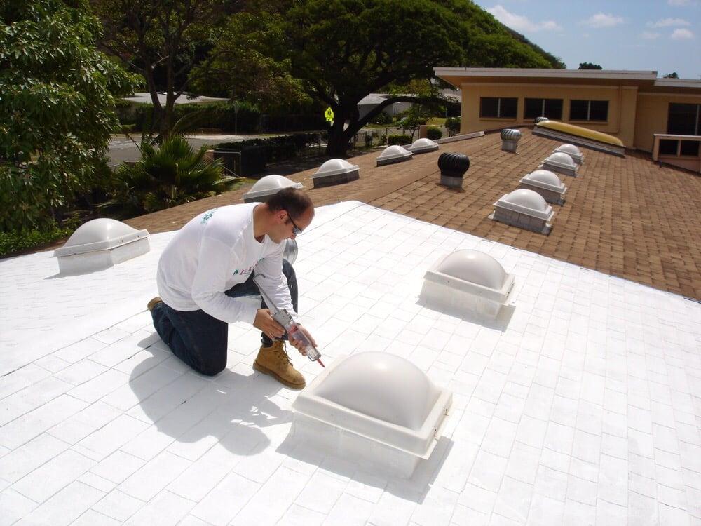 A White Cool Roof Coating Over Asphalt Shingles Yelp