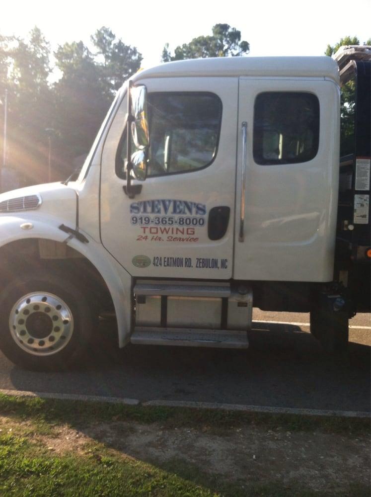 Steven's Towing: 424 Eatmon Rd, Zebulon, NC