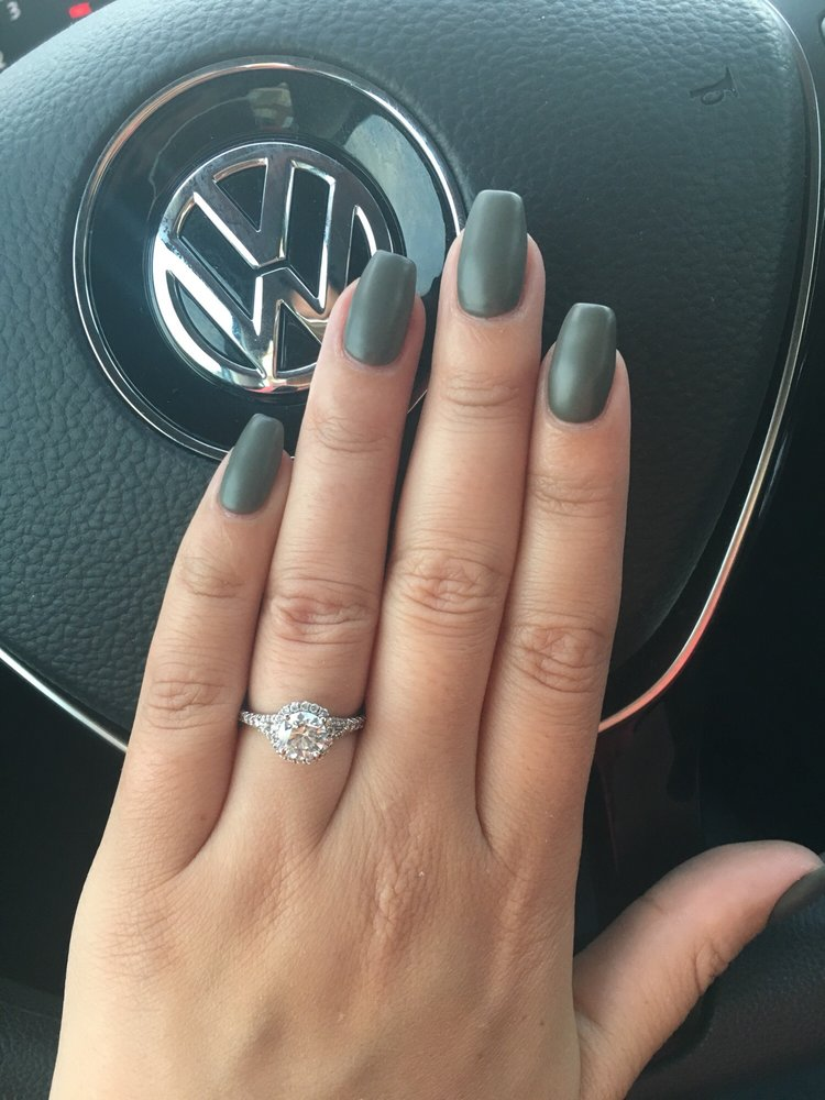 Van always does an amazing job :) loving my matte olive nails for ...