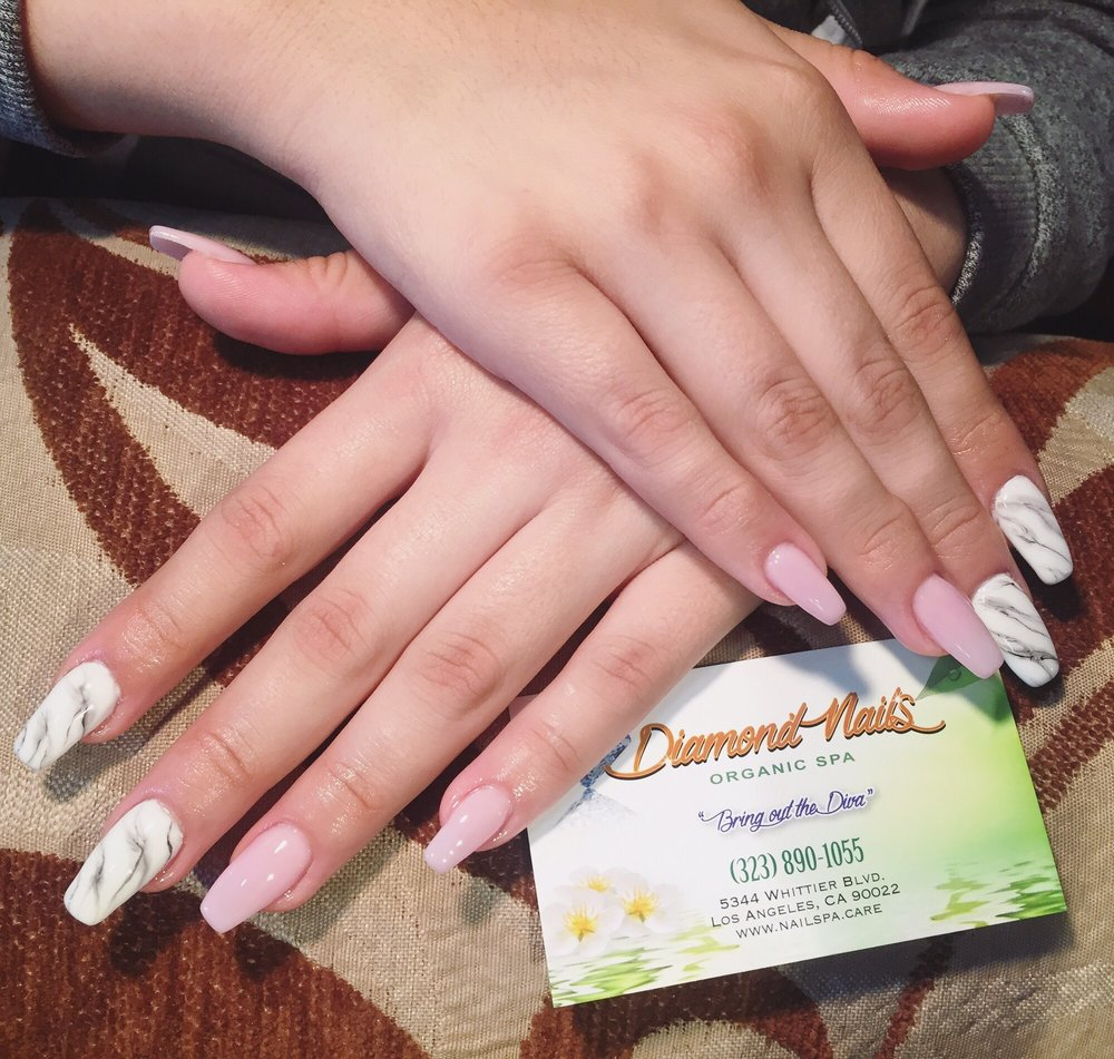 Mobile Nail Spa Los Angeles: Marble Design Nails