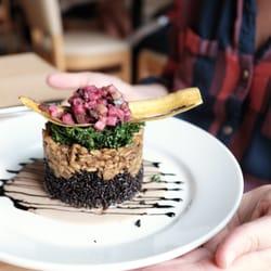 Photo Of Leaf Vegetarian Restaurant Boulder Co United States Jamaican Tempeh