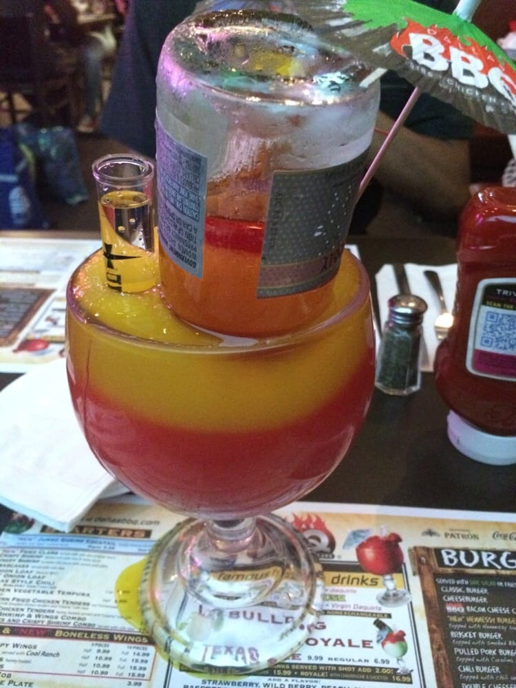 Texas Sized Bahama Mama With Pink Moscato Amp A Shot Of