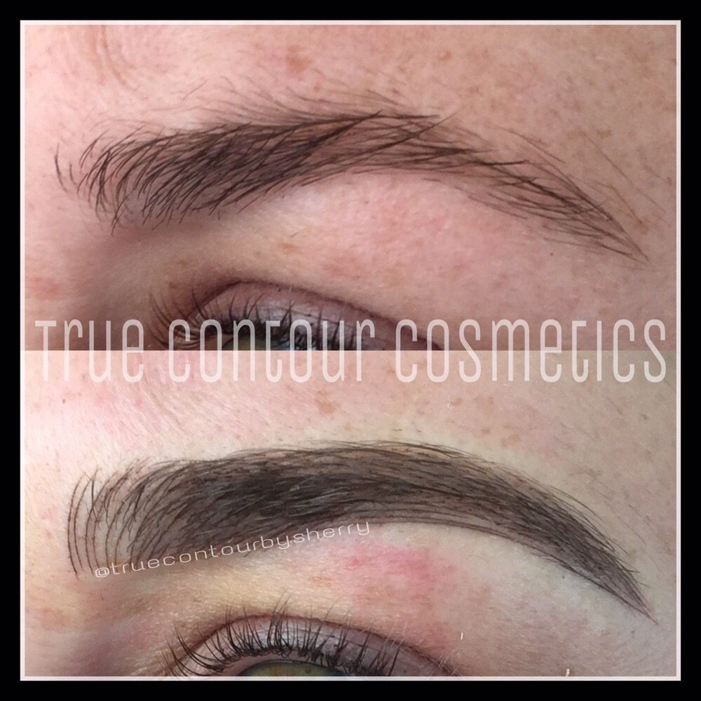 Microstroking Microblading 3d Natural Brow Tattoo Semi Permanent