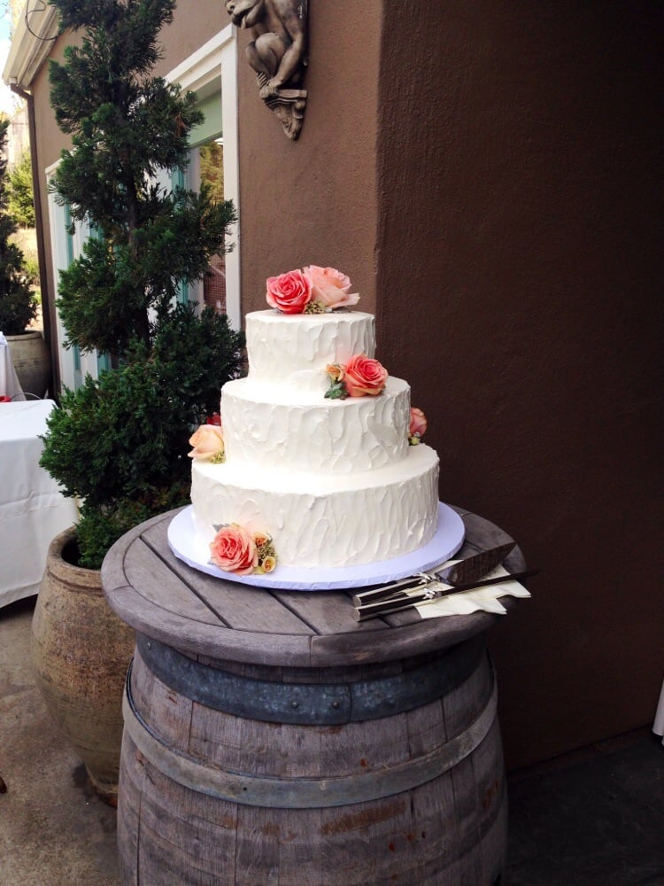 Butter Cream On The Outside With Fresh Flowers Yelp