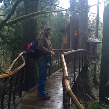 Treehouse masters treehouse point Treehousepoint Photo Of Treehouse Point Issaquah Wa United States My Husband Walking Down Pinterest Treehouse Point 175 Photos 69 Reviews Bed Breakfast 6922