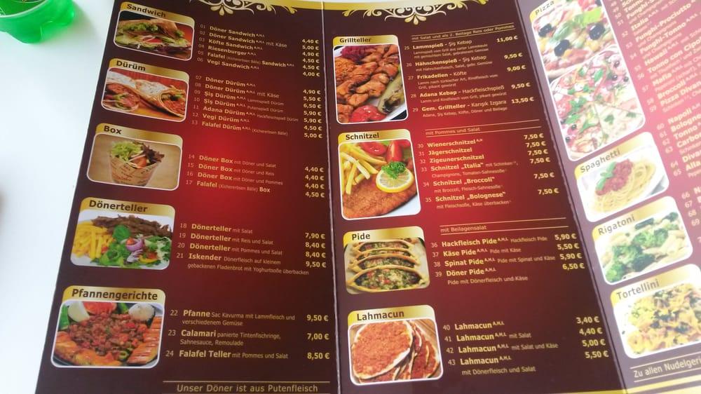 Divan restaurant d ner kebab rosental 27 kaufbeuren for Divan kebab menu